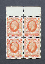 GB KGV 1934-6. 2d Orange Photogravure SG442 MNH. Block of Four