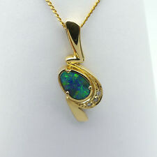 GOLD JEWELLERY, SOLID GOLD 18 CARAT PENDANT WITH SOLID BOULDER OPAL 8720