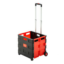 2 Wheels Rolling Folding Utility Cart Collapsible Hand Cart For Shipping Camping