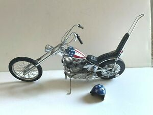 FRANKLIN MINT 1:10 DIECAST EASY RIDER CAPTAIN AMERICA CHOPPER OUT OF BOX HARLEY