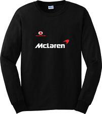 Vodafone Mclaren Car Sport Black Long Sleeve T-Shirt Men or Women Distro