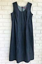 Jessica London Denim Dress Maxi Women's Modest Dark Wash Sleeveless Long Size 16