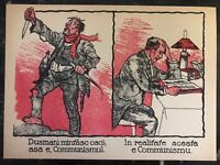 Original Leaflet Romania Communist Post WW1 Enemies Are Lying