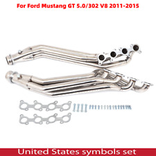 Stainless Long Tube Header Exhaust Manifold For 11-16 Ford Mustang 5.0/302 V8 Us