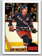 (HCW) 1987-88 O-Pee-Chee #49 Don Maloney NY Rangers