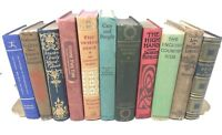 Lot 10 GORGEOUS VINTAGE rare old BOOKS mix unsorted BEAUTIES Ships FREE!