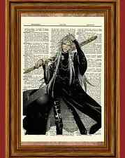 The Undertaker Dictionary Art Print Anime Picture Kuroshitsuji Black Butler