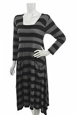 THE MASAI CLOTHING COMPANY PINSTRIPED VISCOSE & ELASTANE DRESS KLEID Size M