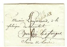 LETTRE HAUT RHIN M.P. 66 CERNAY 31x11  DU 5 OCTOBRE 1820