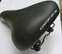 COMFORT GEL PAD NARROW SPRUNG SPRING BIKE BICYCLE CYCLE SADDLE SEAT BLACK 301