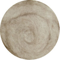Carded Wool Felting Spinning Craft Hand Spin Wet Needle Felt - Beige Grey (mix)