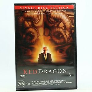Red Dragon Anthony Hopkins Thriller DVD Good Condition Free Tracked Post