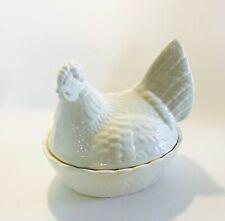 More details for chicken egg nest white crown devon egg storage tableware kitchen farmhouse