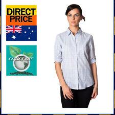 Check Button Down Shirt Casual Tops for Women