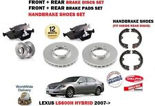 FOR LEXUS LS600H 5.0 2007-> FRONT + REAR BRAKE DISCS SET + DISC PADS + SHOES KIT