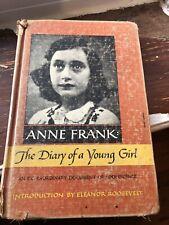 Anne Frank Diary Young Girl Holocaust Memoir German Jew Eleanor Roosevelt 1952