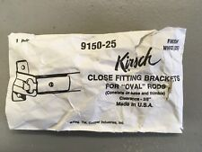Kirsch 9150  Close Fitting Bracket for Oval Rods Curtain/Drapery Hardware
