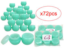 72 Pieces 10 Gram/10ml Green Round Frosted Sample Jars with Inner Liner and Lid