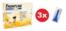 ANTIPARASITARIO FRONTLINE SPOT ON PERROS 2-10 KG (3 pipetas sueltas, sin caja)
