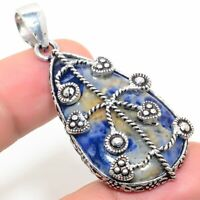 "Orange Sodalite Handmade Ethnic Style Jewelry Pendant 1.97 "" SS-561"