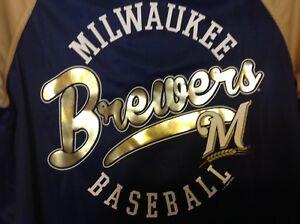 Milwaulkee Brewers, Women's Varsity Full Zip Jacket by G-III Sports; Sz Small