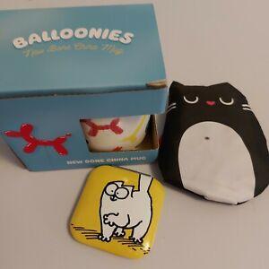 simons cat compact mirror, balloonies mug and feline fine foldable bag