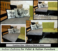 74dec511e392 1 x CUSHION FOR INDOOR PALLET - RATTAN SOFAS & CANE SETTEES & GARDEN  FURNITURE