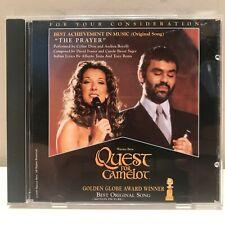 "Celine Dion / Andrea Bocelli ""The Prayer"" Quest For Camelot Promo CD FYC"