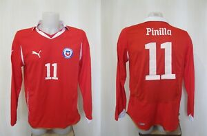 5+/5 Chile 2010/2011 home Sz L shirt jersey maillot football long sleeves soccer