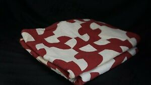 """TWO Antique RED AND WHITE QUILTS Hand Stitched Pinwheel 36"""" x 56"""" AND 59"""" x 70"""""""