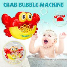 Bubble Machine Crab Automatic Maker Flashing Lights Musical Bath Toy Xmas Gift