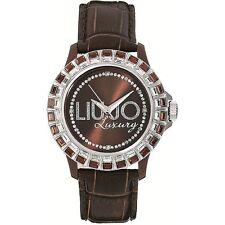 Liu Jo Orologio Watch Woman Uhr Baguette Donna TLJ162 Pelle Marrone Strass Brown