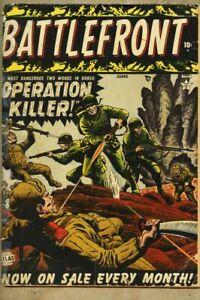 Battlefront #1-1952 gd 2.0 Battle Front Marvel Atlas Jerry Robinson Russ Heath