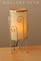 STYLISH! MID CENTURY MODERN ATOMIC TRIPOD LAMP! WEINBERG 50S 60S VTG BRASS RETRO