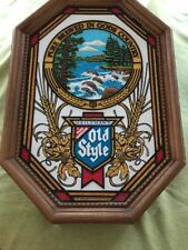 Vintage Heileman's Old Style Non Illuminated Stained Glass Beer Sign