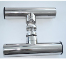 Set of 2 Stainless Steel Clamp On Fishing Rod Holder For Boat