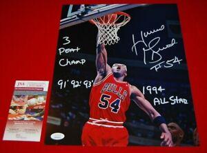 HORACE GRANT CHICAGO BULLS autographed signed 11X14 photo JSA COA