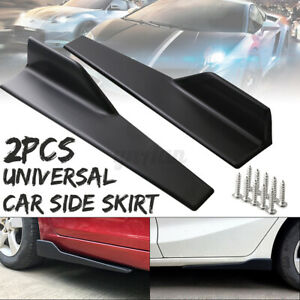 2x 17.71'' Side Skirt Splitters For Mercedes W205 W204 W203 C200 C250 C300