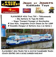 PLAYMOBIL® 4016 TRAIN TGV RC + 4119 WAGON LGB Custom Rail Maison Accessoire ☆ 2☆