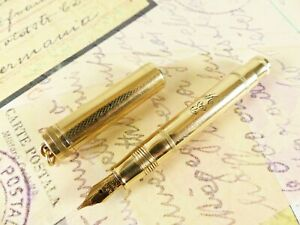 Restored Lady Size Parker Lucky Curve Gold Filled Fountain Pen