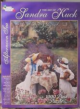 AFTERNOON TEA BY SANDRA KUCK (Complete) WHITE MOUNTAIN PUZZLE