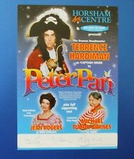 THEATRE FLYER PETER PAN SIGNED BY JEAN ROGERS [ EMMERDALE ]