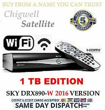 1TB SKY + HD SATELLITE BOX AMSTRAD DRX890W ☆ MASSIVE 1TB UPGRADE☆