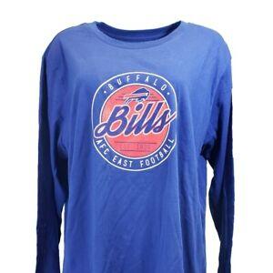 Buffalo Bills Women's NFL Long Sleeve T Shirt Blue Plus Size 1x 2x 3x 4x