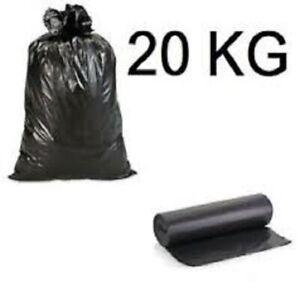 🗑 20 KG BUSTE SPAZZATURA RESISTENTI cm 90x120 / CIRCA 150 SACCHI PER IMMONDIZIA