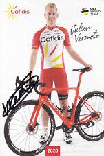 Julien VERMOTE - Frankreich, Radsport, Team Cofidis 2020, Original-Autogramm!