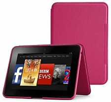 Standing Leather Cover, Fuchsia for Amazon Kindle Fire HD 8.9