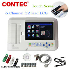 Digital Touch 6 Channels 12 Lead ECG Machine Electrocardiograph Printer+software