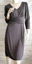 ANN TAYLOR LOFT Career Dress Size 8 Brown Green Foulard Knit