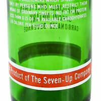 7UP Company Large Diet Like Soda Bottle ACL Vintage Old 1 Pint 16 Ounces Green
